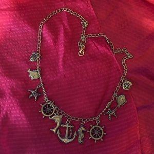 Vintage Nautical Theme Necklace